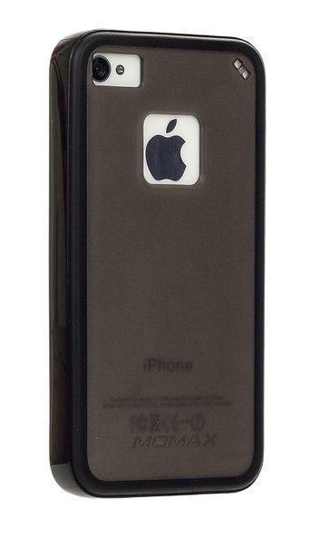 Чехол-накладка Momax iCase Pro для Apple iPhone 4/4S пластик-силикон черыйдля iPhone 4/4S<br>Чехол-накладка Momax iCase Pro для Apple iPhone 4/4S пластик-силикон черый<br>