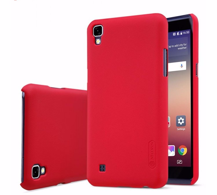 Чехол-накладка Nillkin Frosted Shield для LG X Power (K220DS) пластиковый красный