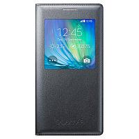 Чехол-книжка Samsung S-View Cover для Galaxy A7 полиуретан, поликарбонат (черный) (EF-CA700BCEGRU) фото