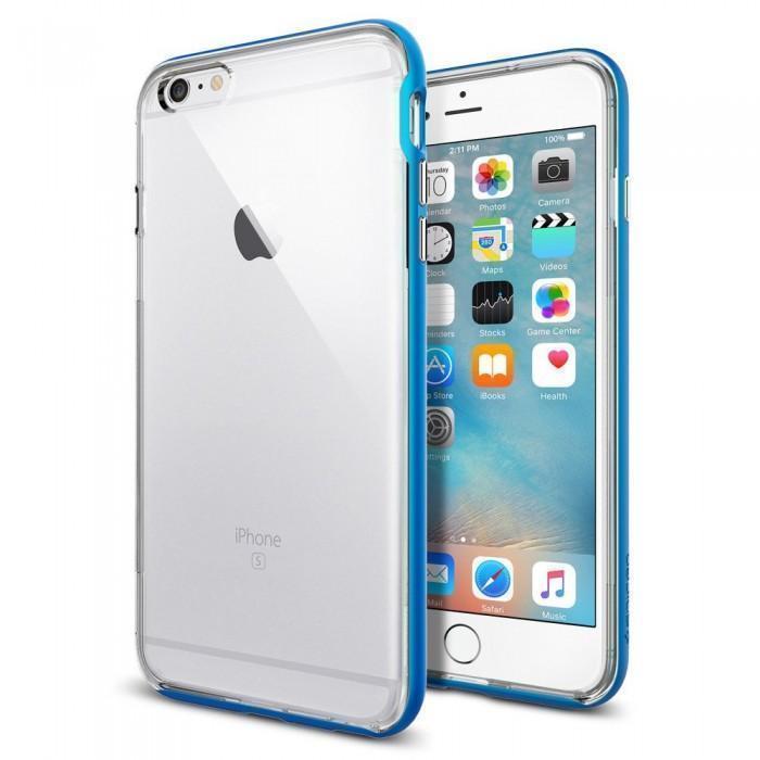 Чехол-накладка Spigen Neo Hybrid EX для Apple iPhone 6 Plus/6S Plus (SGP11670) blueдля iPhone 6 Plus/6S Plus<br>Чехол-накладка Spigen Neo Hybrid EX для Apple iPhone 6 Plus/6S Plus (SGP11670) blue<br>