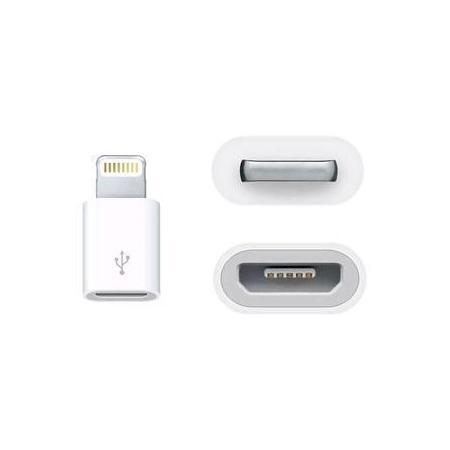 Адаптер Apple MD820ZM/A с (microUSB) на (Lightning) Original белый(Apple lightning) кабели, переходники, адаптеры<br>Адаптер Apple MD820ZM/A с (microUSB) на (Lightning) Original белый<br>
