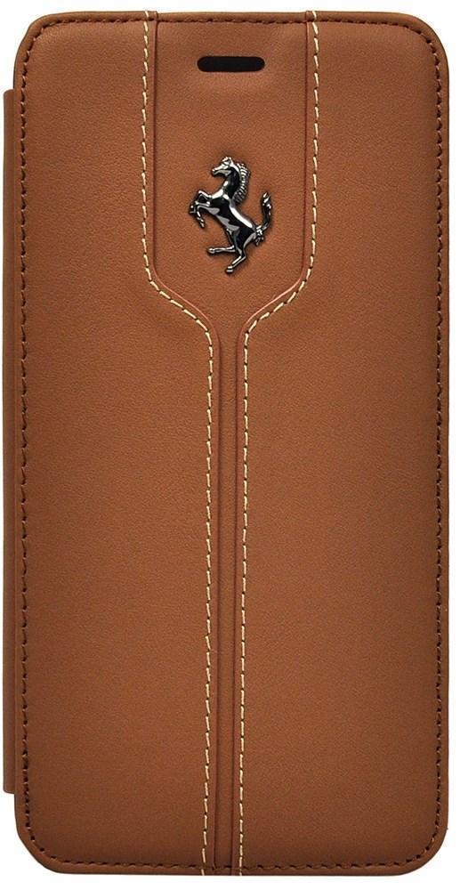Чехол-книжка Ferrari Montecarlo Booktype для Apple iPhone 6 Plus/6S Plus (коричневый) фото