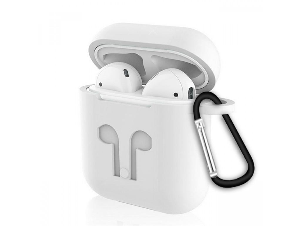 Купить Чехол Devia Silicone Case для AirPods силиконовый (белый)