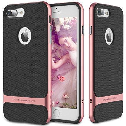 Купить со скидкой Чехол-накладка Rock Royce Kickstand Series для Apple iPhone 7 Plus/8 Plus пластик/силикон Rose Gold