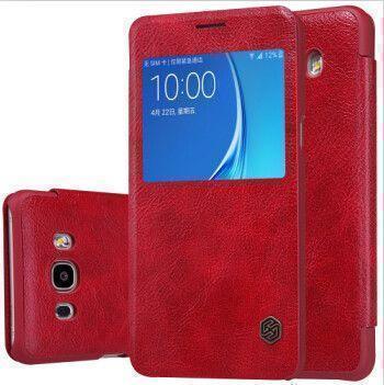 Чехол-книжка Nillkin QIN Leather Case для Samsung Galaxy A7 (2017) A720 натуральная кожа (красный) фото