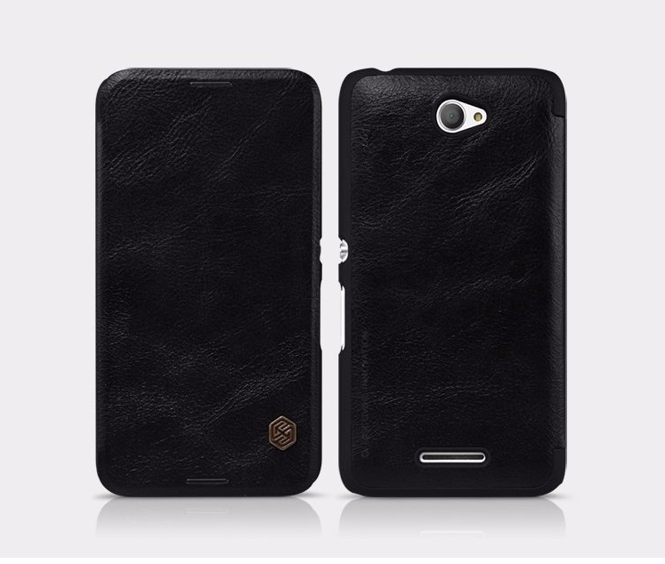 Чехол-книжка Nillkin QIN Leather Case для Sony Xperia E4 / E4 Dual натуральная кожа черныйдля Sony<br>Чехол-книжка Nillkin QIN Leather Case для Sony Xperia E4 / E4 Dual натуральная кожа черный<br>