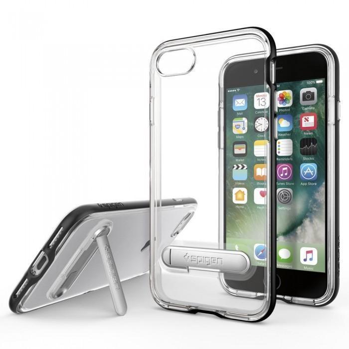 Чехол-накладка Spigen Crystal Hybrid для Apple iPhone 7/8 пластик/силикон (Black) (042CS20671)