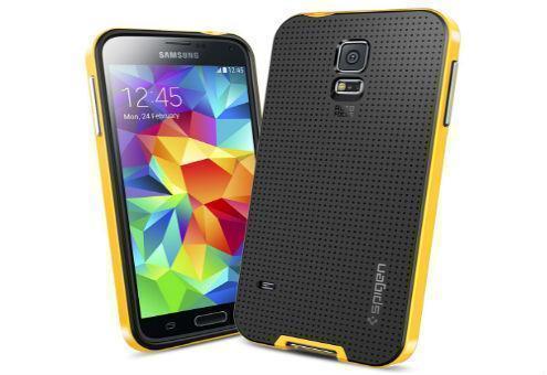 Чехол-накладка Spigen Neo Hybrid SGP10775 для Samsung Galaxy S5 резина, пластик (reventon yellow)для Samsung<br>Чехол-накладка Spigen Neo Hybrid SGP10775 для Samsung Galaxy S5 резина, пластик (reventon yellow)<br>