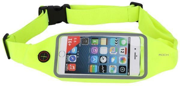 Сумка поясная Rock Universal Running Belt для смартфона универсальная (green)