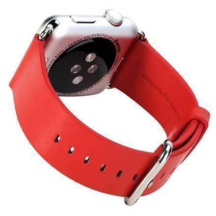 Ремешок кожаный Rock Genuine Leather Watchband для Apple Watch Series 1/2 42mm Red