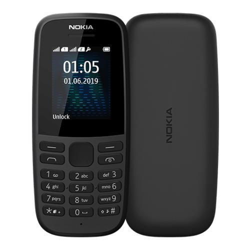 Nokia 105 Dual sim (2019) (Black) (16KIGB01A01)