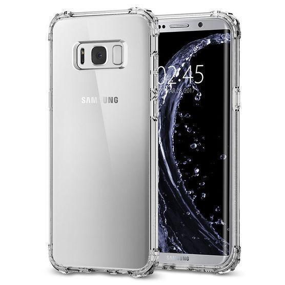 Чехол-накладка Spigen Crystal Shell для Samsung Galaxy S8+ кристально-прозрачны (SGP 571CS21119)для Samsung<br>Чехол-накладка Spigen Crystal Shell для Samsung Galaxy S8+ кристально-прозрачны (SGP 571CS21119)<br>