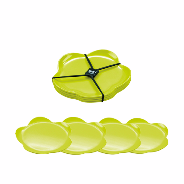 Zak!Designs Набор тарелок десертных Flora зеленый фото