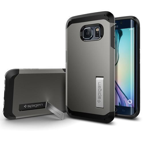 Купить Чехол-накладка Spigen Tough Armor SGP11432 для Samsung Galaxy S6 Edge резина, пластик (Satin Silver)