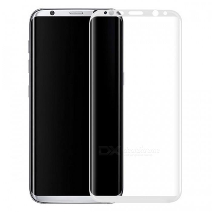 Защитное стекло Glass PRO (3D) Screen для Samsung Galaxy S8+ (SM-G955) цветное белая рамка