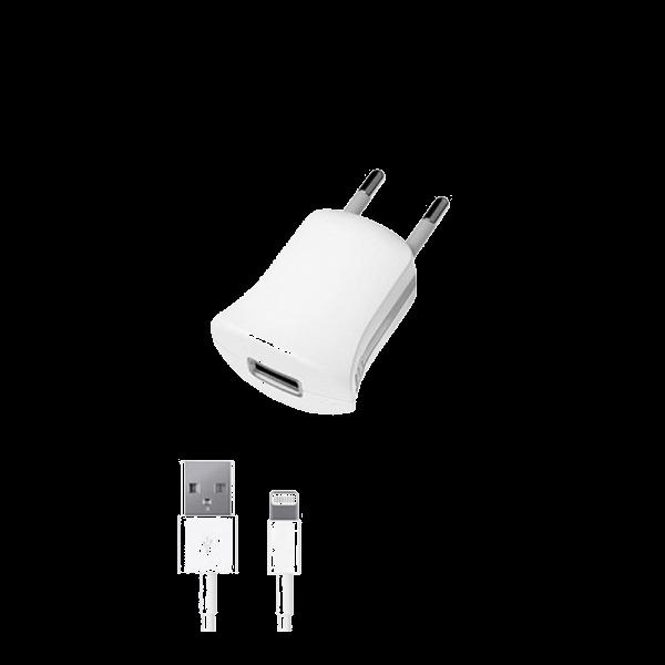 Сетевое зарядное устройство Deppa (11350) 1.0А (USB) + (дата-кабель 120 см 8pin Lightning MFI) белыйСетевые зарядные устройства для смартфонов/планшетов<br>Сетевое зарядное устройство Deppa (11350) 1.0А (USB) + (дата-кабель 120 см 8pin Lightning MFI) белый<br>