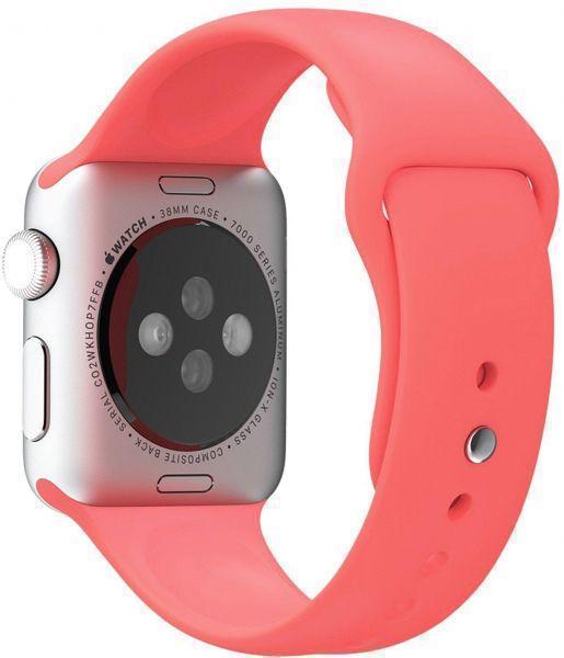 Ремешок силиконовый Rock Sport Band для Apple Watch Series 1/2 38мм pinkРемешки и браслеты для умных часов Apple<br>Ремешок силиконовый Rock Sport Band для Apple Watch Series 1/2 38мм pink<br>