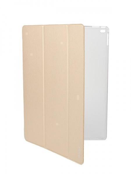 Чехол-книжка Rock Touch Series для Apple iPad Pro 12.9 (пластик полиуретан с подставкой) gold