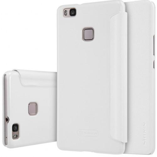 Чехол-книжка Nillkin Sparkle Series для Huawei P9 пластик-полиуретан (белый)для Huawei<br>Чехол-книжка Nillkin Sparkle Series для Huawei P9 пластик-полиуретан (белый)<br>