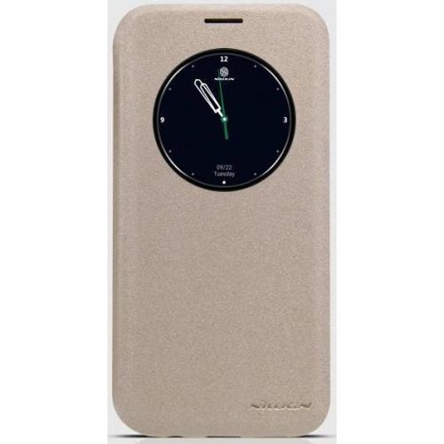 Чехол-книжка Nillkin Sparkle Series для Samsung Galaxy S7 Edge (SM-G935) пластик-полиуретан золотойдля Samsung<br>Чехол-книжка Nillkin Sparkle Series для Samsung Galaxy S7 Edge (SM-G935) пластик-полиуретан золотой<br>