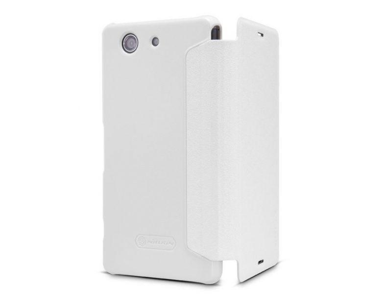 Чехол-книжка Nillkin Sparkle Series для Sony Xperia Z3 Compact пластик-полиуретан (белый)для Sony<br>Чехол-книжка Nillkin Sparkle Series для Sony Xperia Z3 Compact пластик-полиуретан (белый)<br>