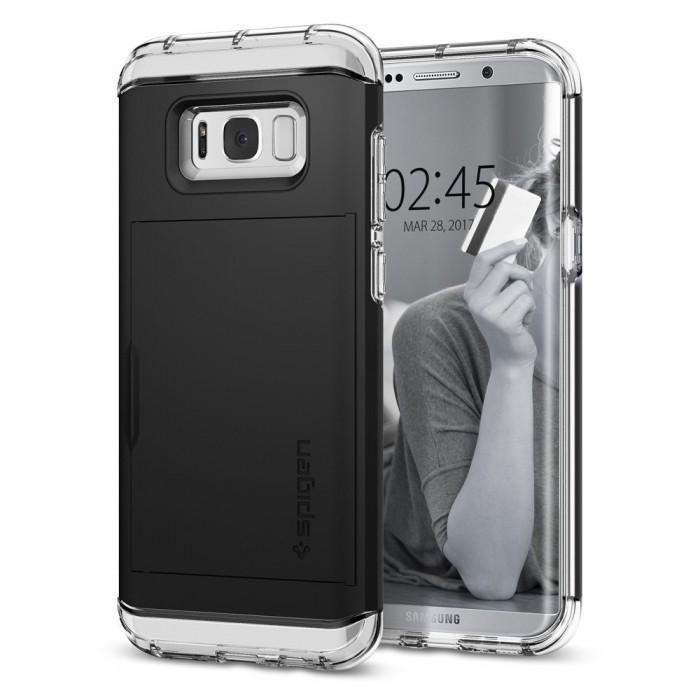 Чехол-накладка Spigen Crystal Wallet для Samsung Galaxy S8 (SGP 565CS21086) черныйдля Samsung<br>Чехол-накладка Spigen Crystal Wallet для Samsung Galaxy S8 (SGP 565CS21086) черный<br>
