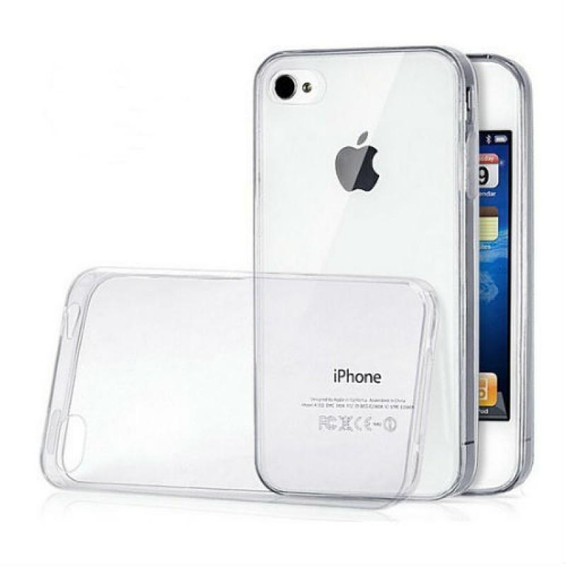 Чехол-накладка для Apple iPhone 4/4S силиконовый прозрачныйдля iPhone 4/4S<br>Чехол-накладка для Apple iPhone 4/4S силиконовый прозрачный<br>