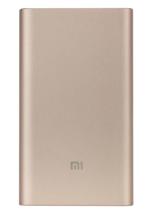Универсальный внешний аккумулятор Xiaomi Mi Power Bank Pro 10000 mAh, 2.4 А, Type-C металл (Gold) (PLM03ZM)