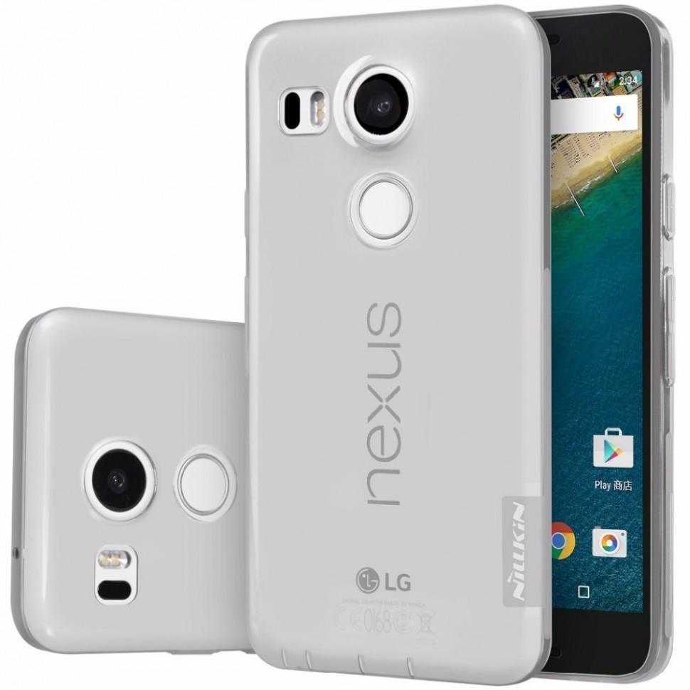 Чехол-накладка Nillkin Nature 0.6mm для LG Nexus 5X H791 силиконовый прозрачно-черныйдля LG<br>Чехол-накладка Nillkin Nature 0.6mm для LG Nexus 5X H791 силиконовый прозрачно-черный<br>