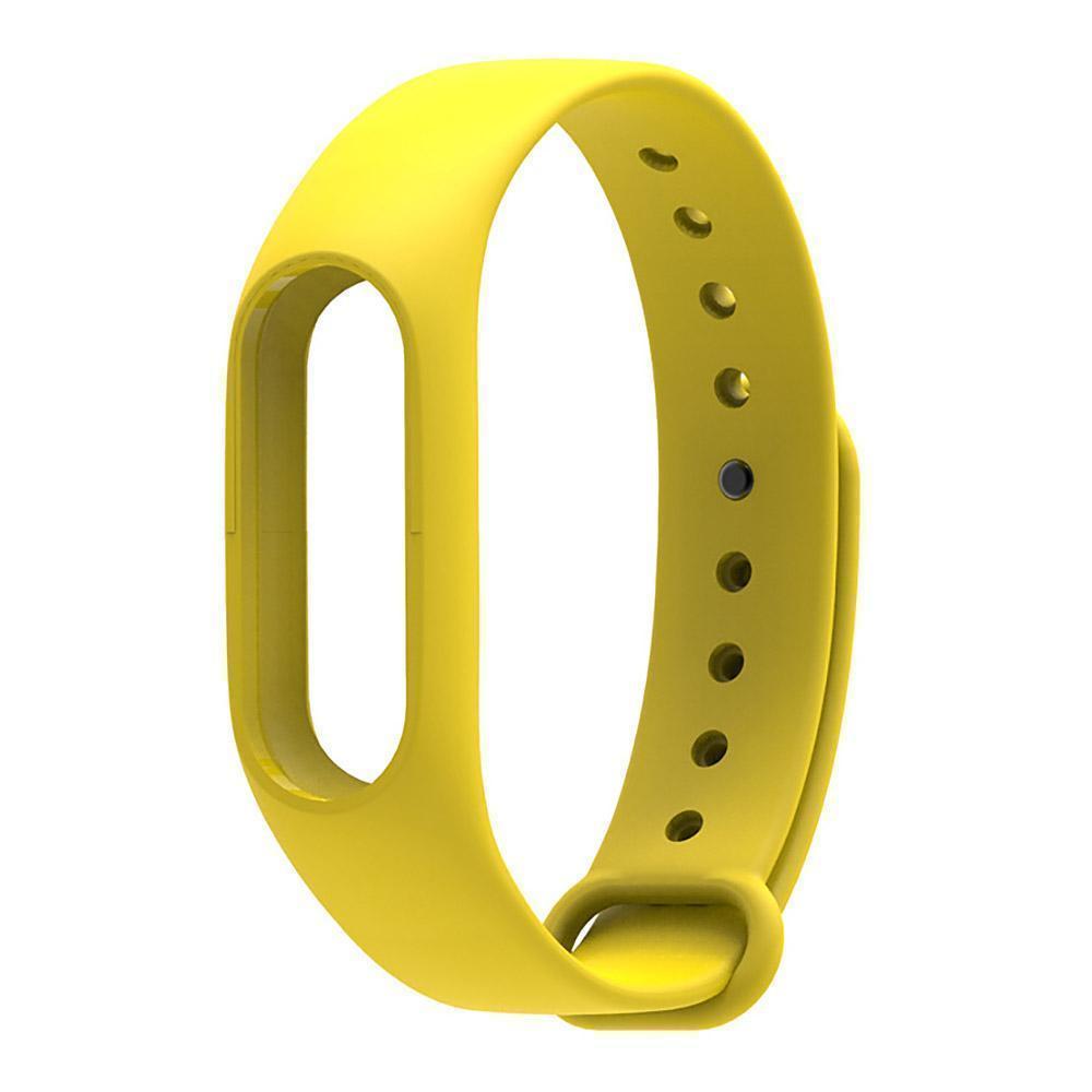 Купить со скидкой Ремешок силиконовый для фитнес трекера Xiaomi Mi Band 2 yellow
