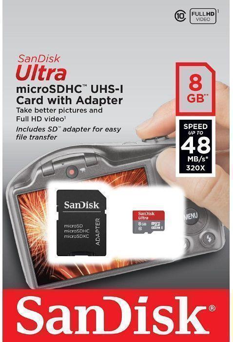 ����� ������ SanDisk Ultra microSDHC UHS-I 8Gb (SDSDQUIN-008G-G4)
