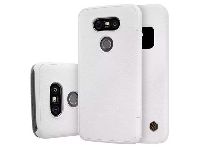 Чехол-книжка Nillkin QIN Leather Case для LG G5 / G5 SE (H860 / H845) натуральная кожа (белый)для LG<br>Чехол-книжка Nillkin QIN Leather Case для LG G5 / G5 SE (H860 / H845) натуральная кожа (белый)<br>