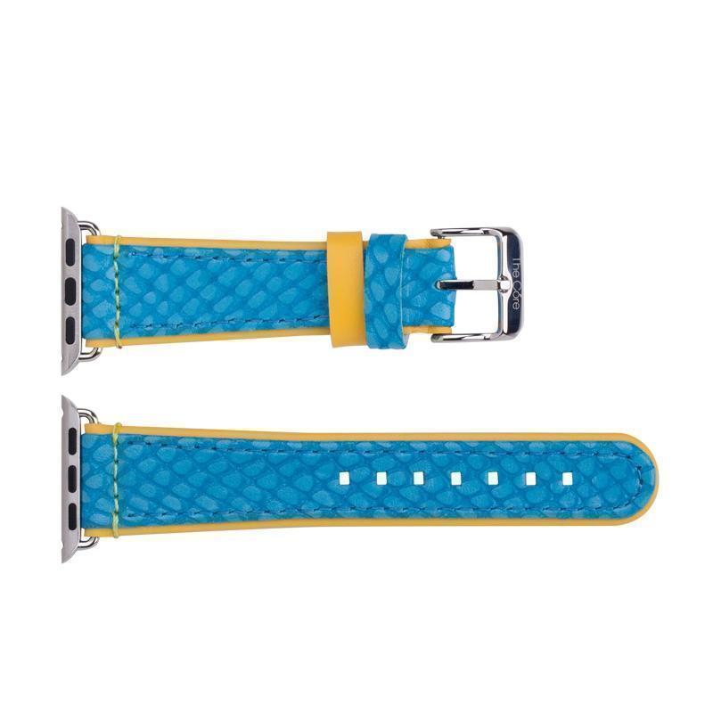 Ремешок кожаный The Core Leather Band для Apple Watch Series 1/2 42mm blueРемешки и браслеты для умных часов Apple<br>Ремешок кожаный The Core Leather Band для Apple Watch Series 1/2 42mm blue<br>