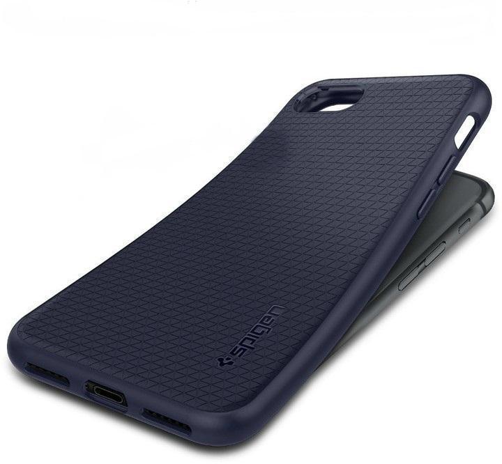 Чехол-накладка Spigen Liquid Air Armor для Apple iPhone 7/8 силикон темно-синий (SGP 042CS21189)для iPhone 7/8<br>Чехол-накладка Spigen Liquid Air Armor для Apple iPhone 7/8 силикон темно-синий (SGP 042CS21189)<br>