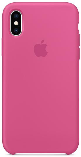 Купить Чехол-накладка Silicone Case для iPhone XR силиконовый (фуксия)