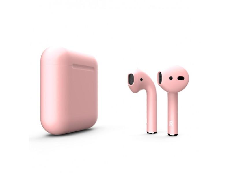 Беспроводная гарнитура Apple AirPods 2 (Matte Pink)