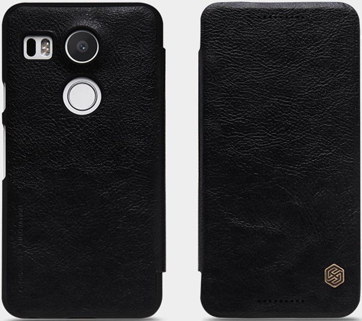 Чехол-книжка Nillkin QIN Leather Case для LG Nexus 5X натуральная кожа чёрный