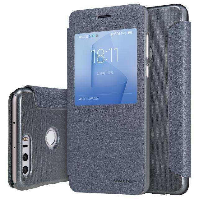 Чехол-книжка Nillkin Sparkle Series для Huawei Honor 8 пластик-полиуретан (черный)