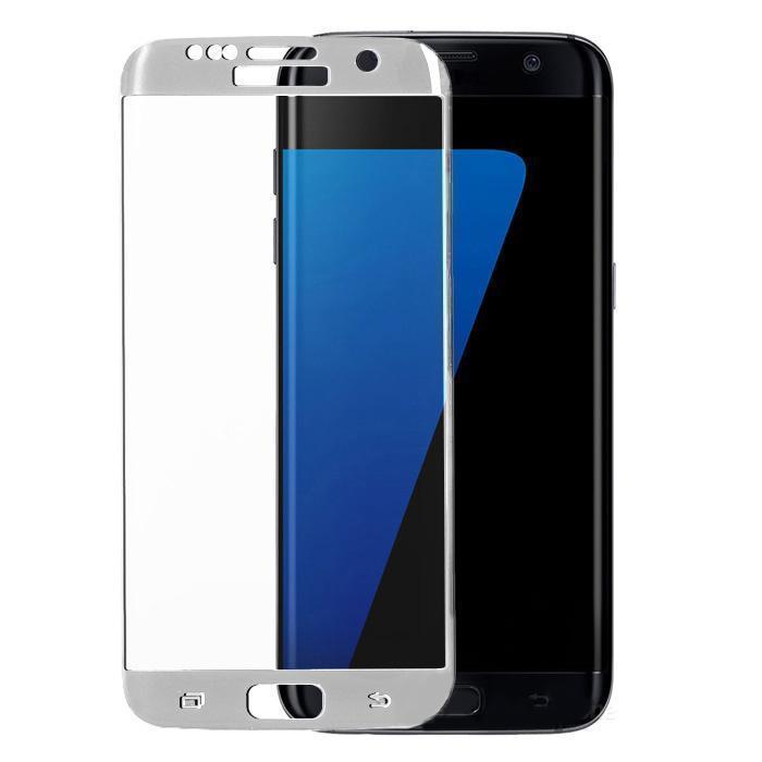 Защитное стекло Glass PRO (3D) Screen для Samsung Galaxy S7 Edge (SM-G935) цветное серебряная рамкадля Samsung<br>Защитное стекло Glass PRO (3D) Screen для Samsung Galaxy S7 Edge (SM-G935) цветное серебряная рамка<br>