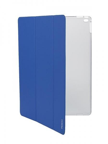 Чехол-книжка Rock Phantom Series для Apple iPad Pro 12.9 (силикон полиуретан с подставкой) blueдля Apple iPad Pro 12.9<br>Чехол-книжка Rock Phantom Series для Apple iPad Pro 12.9 (силикон полиуретан с подставкой) blue<br>
