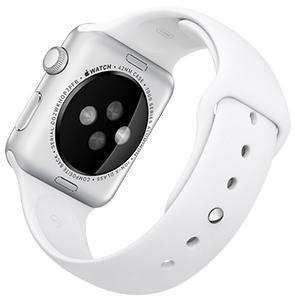 Ремешок силиконовый Rock Sport Band для Apple Watch Series 1/2 42мм whiteРемешки и браслеты для умных часов Apple<br>Ремешок силиконовый Rock Sport Band для Apple Watch Series 1/2 42мм white<br>