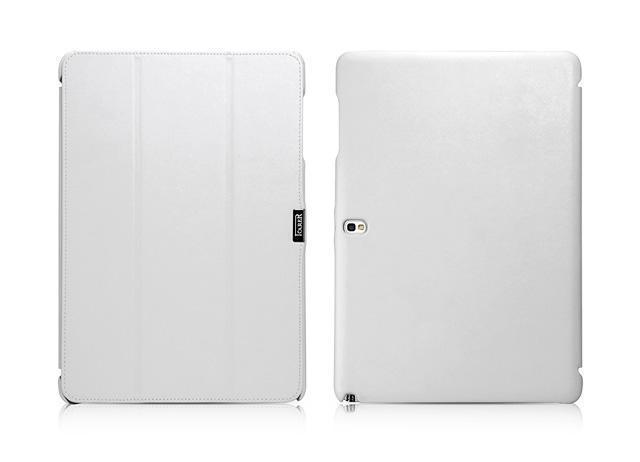 Чехол-книжка iCarer для Samsung Note10.1 2014 Edition (P6000/P6010/P600/P601) натуральная кожа белыйдля Samsung<br>Чехол-книжка iCarer для Samsung Note10.1 2014 Edition (P6000/P6010/P600/P601) натуральная кожа белый<br>