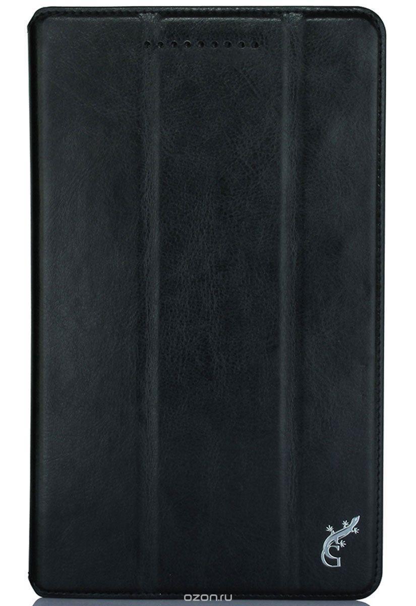 Чехол-книжка G-Case для ASUS ZenPad 8.0 Z380 (натуральная кожа с подставкой) чёрный
