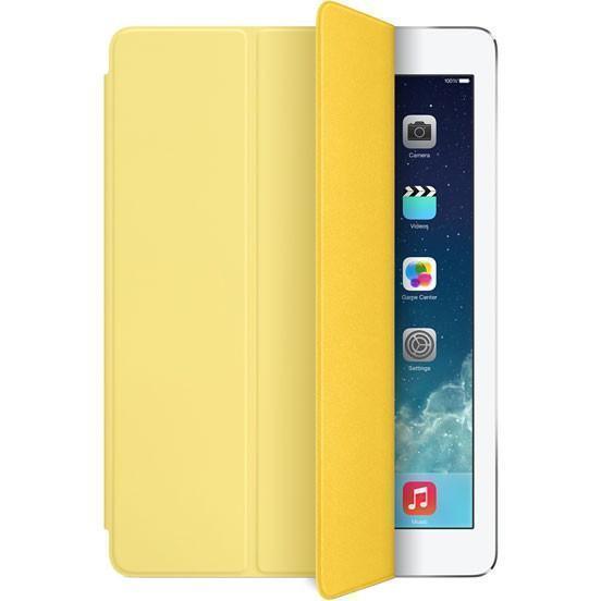 Купить со скидкой Чехол-книжка Apple Smart Case для Apple iPad Air (натуральная кожа с подставкой) желтый MF049FE/A