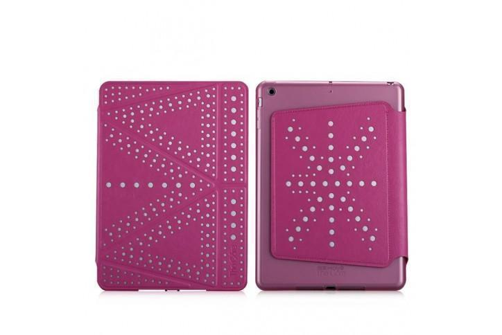Чехол-книжка The Core Polka для Apple iPad mini 1/2/3 (силикон полиуретан с подставкой) розовыйдля Apple iPad mini 1/2/3<br>Чехол-книжка The Core Polka для Apple iPad mini 1/2/3 (силикон полиуретан с подставкой) розовый<br>