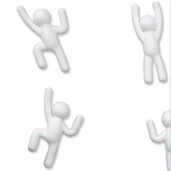Картинка для Umbra Декор для стен Climber 6 элементов полипропилен белый