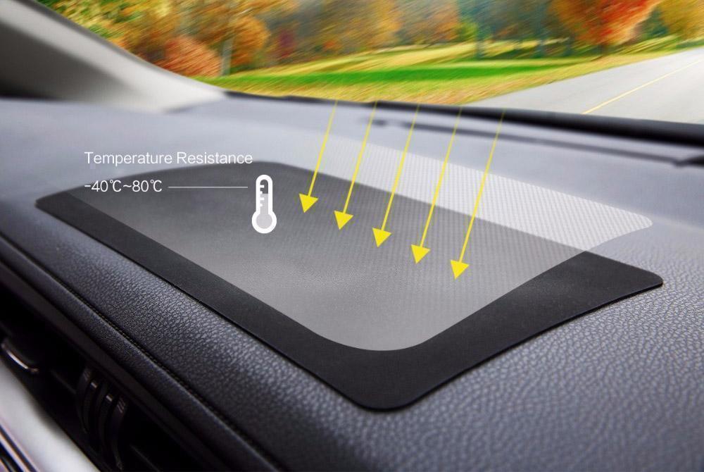 Автомобильный антискользящий коврик Rock Non-Slip Dash Mat 270x150 мм текстура кожи черныйАнтискользящий коврик<br>Автомобильный антискользящий коврик Rock Non-Slip Dash Mat 270x150 мм текстура кожи черный<br>