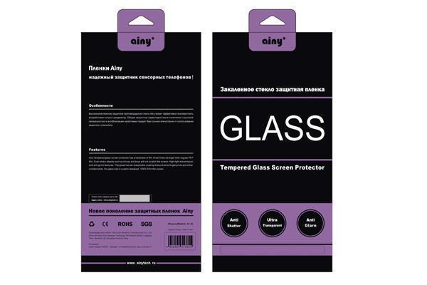 Защитное стекло Ainy 3D Full Screen Cover 9H 0.33mm для Apple iPhone 6 Plus/6S Plus розовая рамка