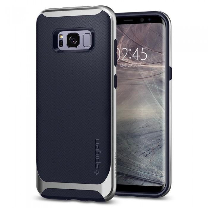 Чехол-накладка Spigen Neo Hybrid для Samsung Galaxy S8 серебристый (SGP 565CS21600)для Samsung<br>Чехол-накладка Spigen Neo Hybrid для Samsung Galaxy S8 серебристый (SGP 565CS21600)<br>