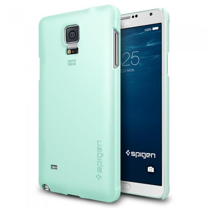 Чехол-накладка Spigen SGP11111 Thin Fit для Samsung Galaxy Note 4 (Mint) фото